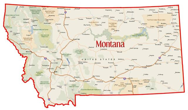 Image - Montana-state-map.jpg | The New Hurt and Heal And Fanfiction ...