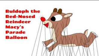 Macy's Thanksgiving Day Parade Ruldoph the Red-Nosed Reindeer Balloon