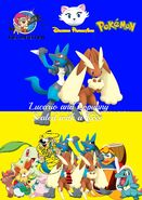 Lucario and Lopunny Sealed with a Kiss