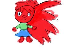 Flaky the Red Porcupine