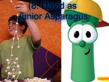 David as Junior Asparagus
