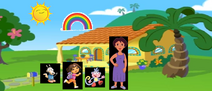 Rocko, Dora, Boots, and Dora's Mom at home.