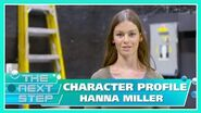 Character Profile Hanna Miller - The Next Step