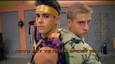 The Next Step Halloween Dance Battle - Ninja Boy vs
