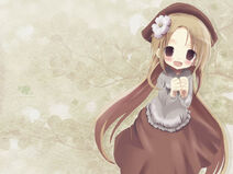 Anime Anime girl in a brown hat 013256 9