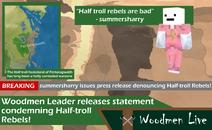Woodmen-live-condemn-half-troll-rebels