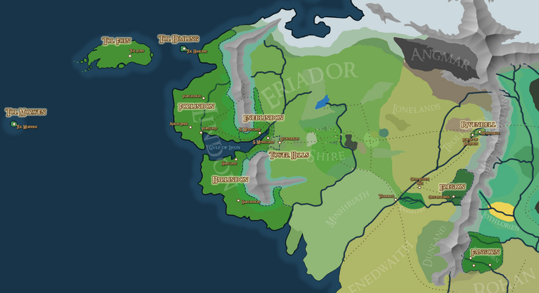 High-Elven Lands, including Fangorn - with WPs - 2017-02-10