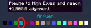 Arquen title dark blue color