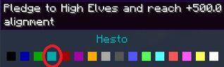 Hesto title dark blue color