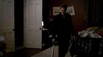 Kol hits Damon with a baseball bat. 3x19 The Vampire Diaries