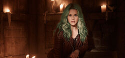 Beautiful Claire Holt-Rebekah Mikaelson Green