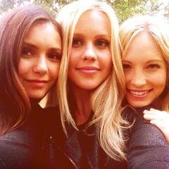 Claire avec Nina et Candice