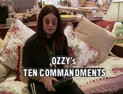 Ozzy's ten commandments