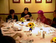 Kelly, ozzy and sharon at table ep1