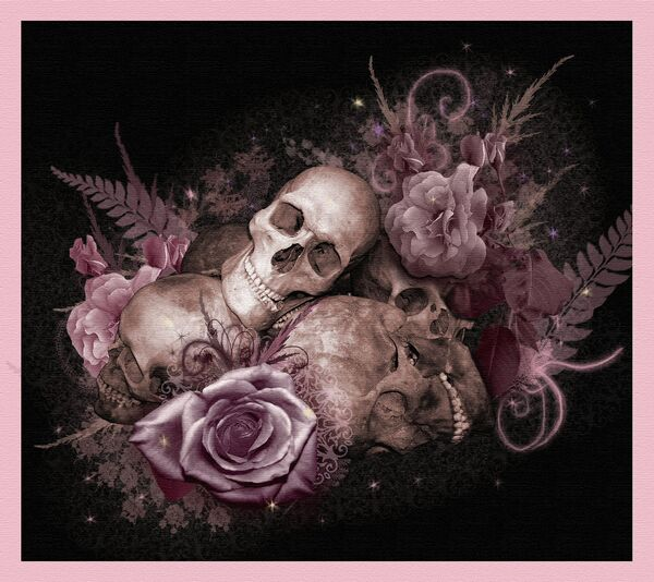 Skulls and Roses by SerenityNme