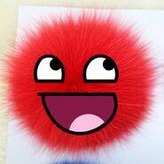 Red fluffy