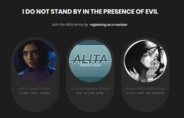 Alita Army page