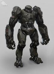 640x874 5131 Omerta 2d sci fi robot picture image digital art