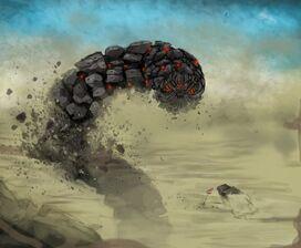 Desert mech worm by dermik-d7souup