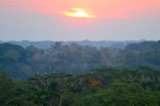 Sunset in Madre de Dios, Peruvian Amazon
