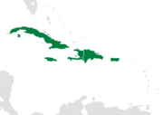 Map of the Caribbean-Greater Antilles