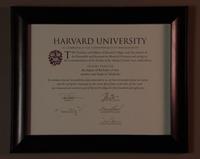 Devon Pravesh's Harvard Certificate