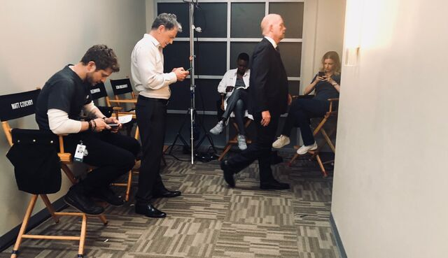 File:Behind The Scenes - Season Two - Amy Holden Jones Twitter - 2x02 The Cast In Their Chairs.jpg