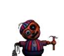 Сломанный мальчик с шарами