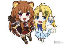 Yande.re 605995 animal ears armor chibi dress firo isekai quartet miyahiko raphtalia tate no yuusha no nariagari thighhighs wings