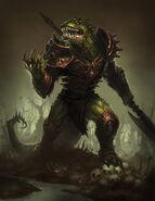 Lizardman deathknight by cribs-d5zxv9k