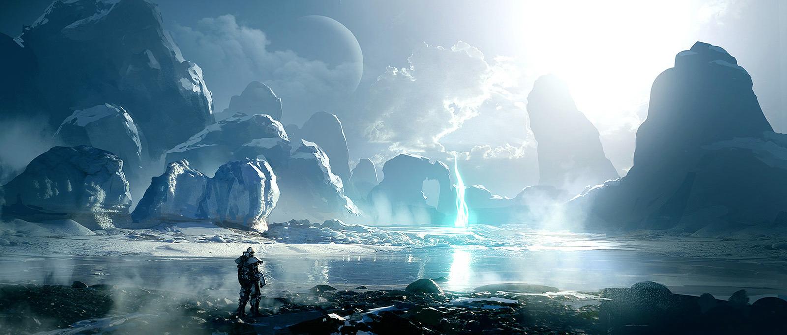 File:Sci Fi Art Layne Johnson Ice Planet on Latest Creative Writing Prompts 2