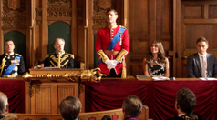 Robert speaks at the Privy Council meeting