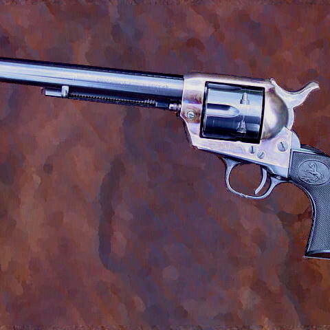 His revolver