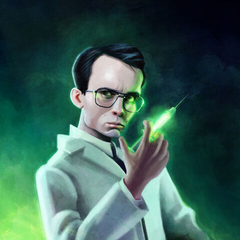 Herbert West-The Re-animator, with his (in)famous syrum