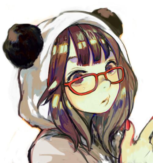 Anime girl panda suit glasses favim com 464804 large jpeg