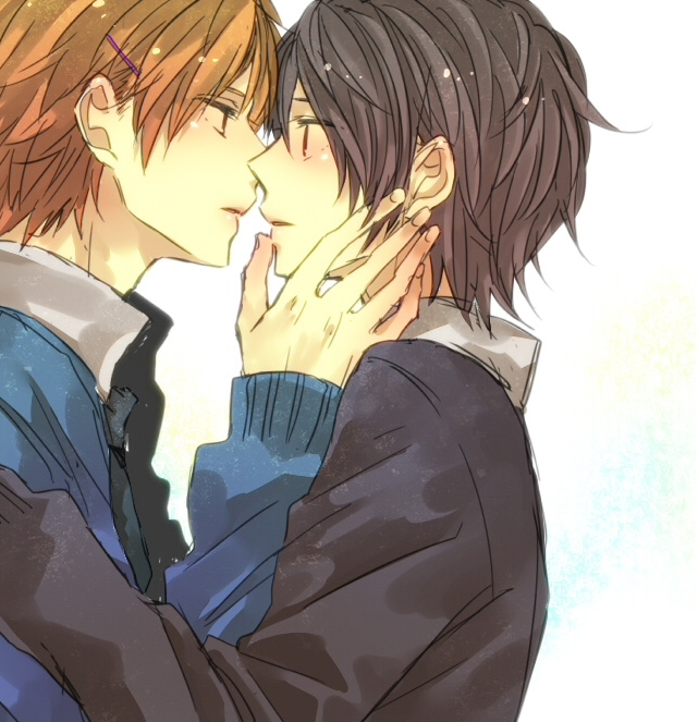 Manga Boys Kissing