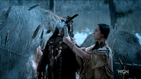 Shaman & Sooleawa with sage stick