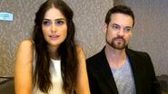 SDCC 2015- Salem - Janet Montgomery and Shane West (Mary Sibley, John Alden)