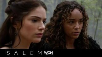 WGN America's Salem 306 Alden, Tituba and Mary in the woods