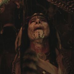 Shaman performing a ritual