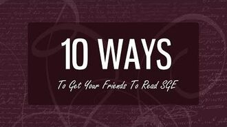 EverNever TV 10 Ways To Get Your Friends To Read SGE