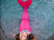 Amy in the pool