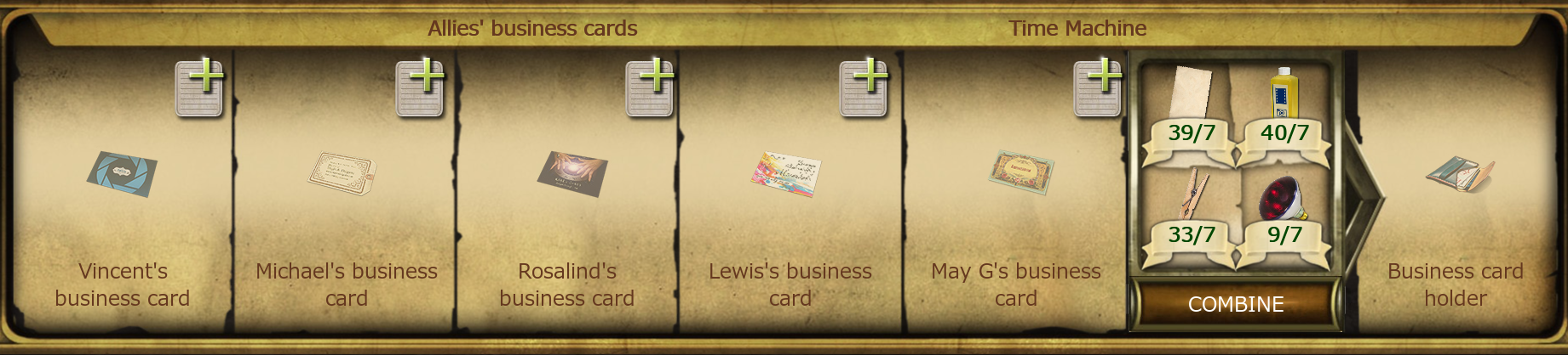Allies\' business cards | The Secret Society - Hidden Mystery Wiki ...