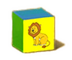 C570 Toy blocks i02 Lion block