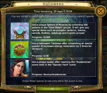 Halloween 2015 timed challenges