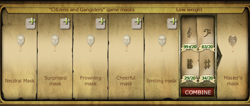 Collection 423 Citizens Gangsters game masks cropped