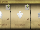 Stereotypical ghosts