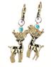C492 Lost jewelry i03 Deer earrings