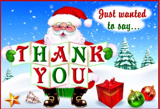Image Santa Saying Thank You Free Thank You Ecards Greeting Cards