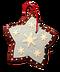 C279 Gingerbread Ornaments i06 Star